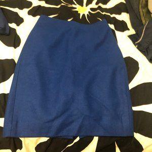 blue j crew pencil skirt